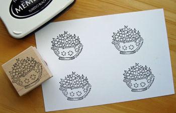 Stamp-bowl