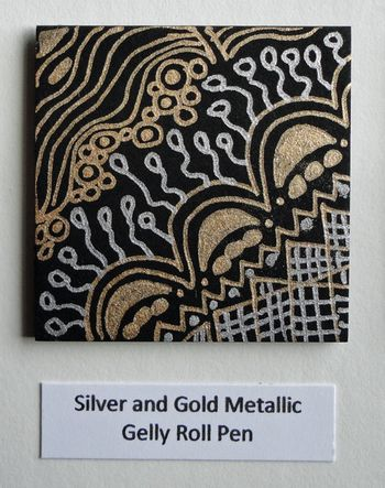 Silver-and-gold-metallic