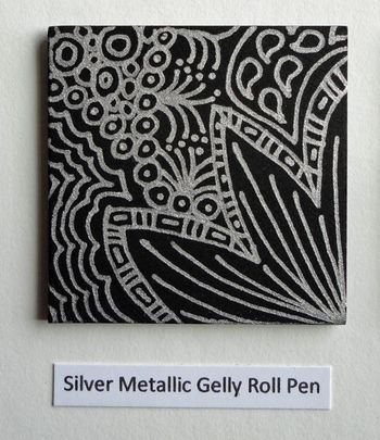 Silver-metallic-gel-pen