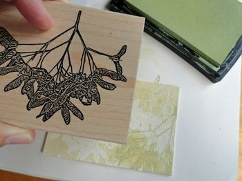 Stamp-with-pear-ink