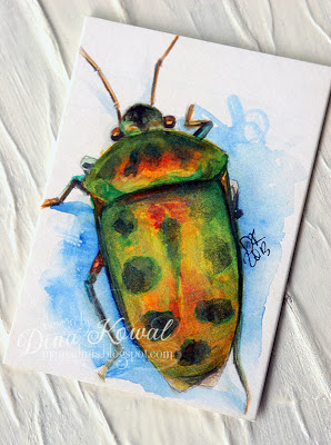 Watercolor beetle
