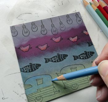 Pencils-to-stamped-images