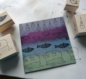 Stamped-pastel