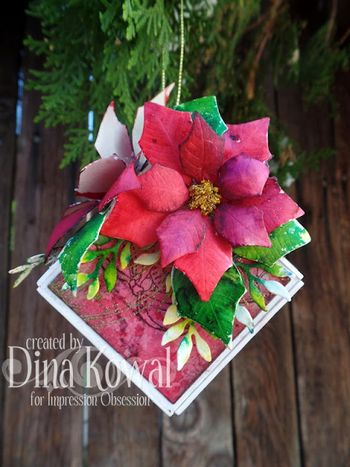 Dina holiday cube ornament